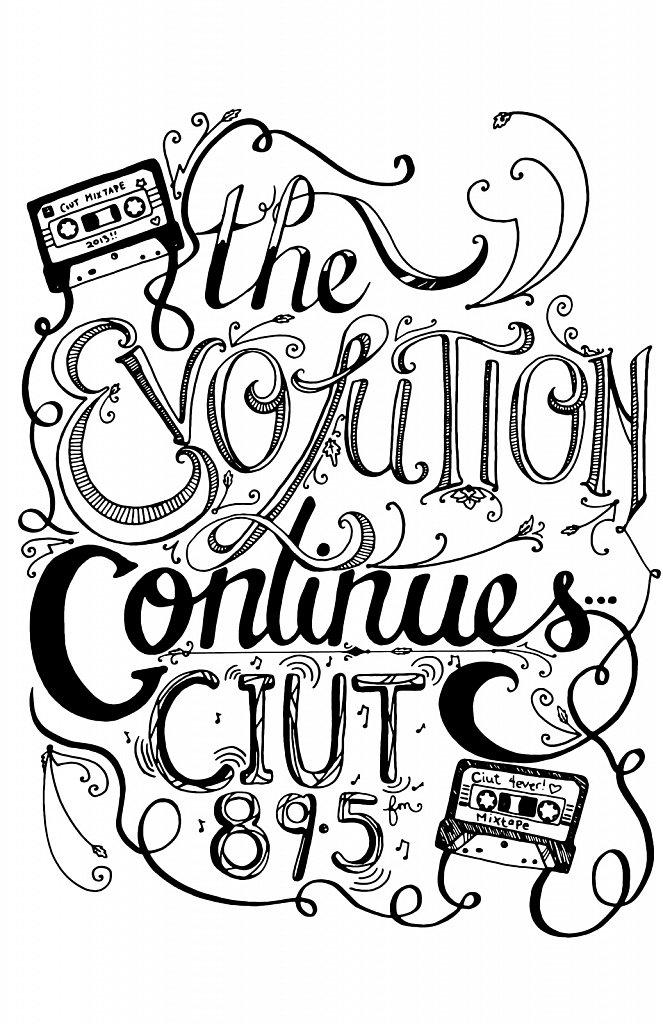 lettering ciut tshirt 2013 blackjpg